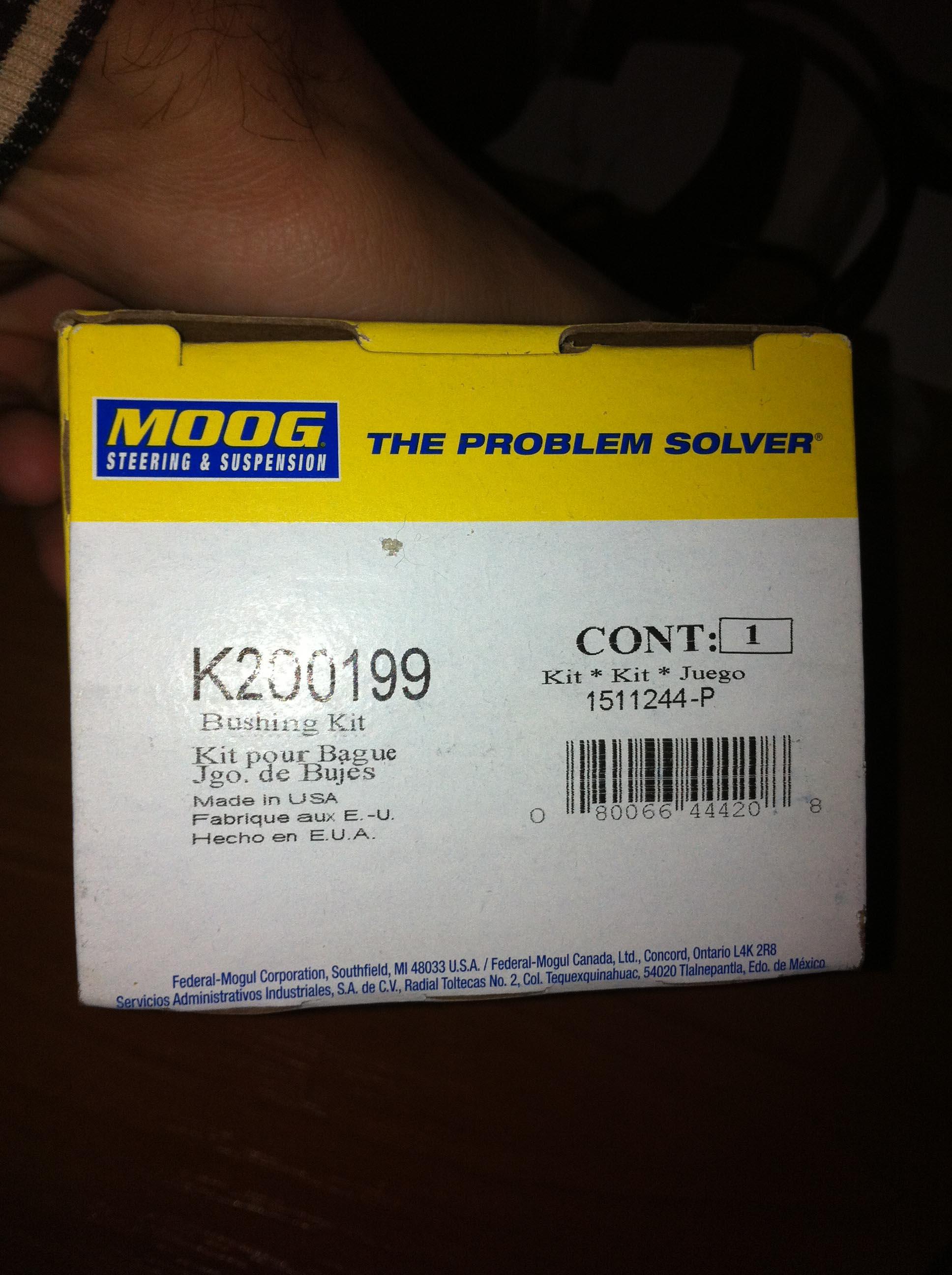 Suspension Stabilizer Bar Bushing Kit Front Moog K200169