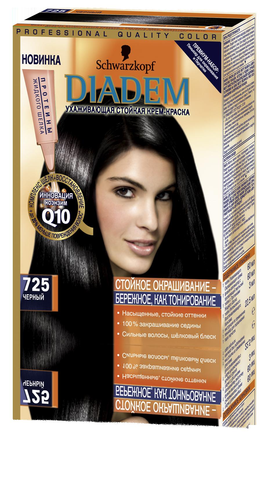 Все оттенки черного краски для волос